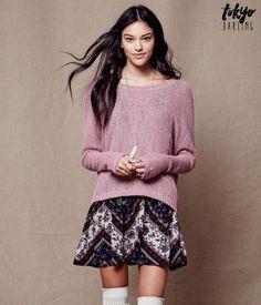 Tokyo Darling Sheer Oversized Dolman Sweater