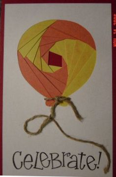 iris folding card making idea