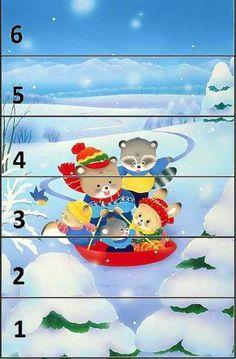 Christmas Puzzle, Kids Christmas, Kindergarten Crafts, Preschool Activities, Baby Sensory Play, Winter Activities For Kids, Felt Stories, Number Puzzles, Numbers Preschool