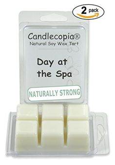 Candlecopia Day at the Spa 6.4 oz Scented Wax Melts - a calming and balanced fragrance oil that combines notes of lemongrass and black currant with hints of patchouli and sugar cane - 2-Pack of naturally strong scented soy wax cubes throw 50+ hours of fragrance when melted in Scentsy®, Yankee Candle® or standard electric tart warmer Candlecopia http://www.amazon.com/dp/B00U1A3I76/ref=cm_sw_r_pi_dp_Dlmfvb0EW2D5A