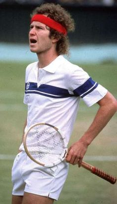 John McEnroe: You cannot be serious! When tennis was fantastique entertaining. Missing that. New book, 'But, Seriously' in store now! Tennis Bag, Le Tennis, Tennis Racket, Tennis Games, Jimmy Connors, Tennis Legends, Vintage Tennis, Tennis Stars, Sports Figures