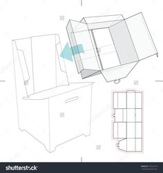 Display stand tray with blueprint stock vector point of sale box for display stand with blueprint layout stock vector illustration 175972103 shutterstock malvernweather Choice Image