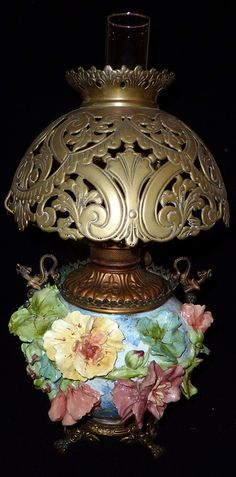 French Barbotine Majolica Lamp by My Beautiful Barbotine, via Flickr