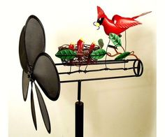 Whirligigs Garden Spinner Handmade Cardinal Whirligig Kinetic Wind Decor Stake #GiftEssentials http://k2b-bulk.ebay.com/ws/eBayISAPI.dll?ListingConsole&currentpage=LCActive