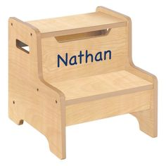 Guidecraft Expressions Natural Step Stool with Personalization