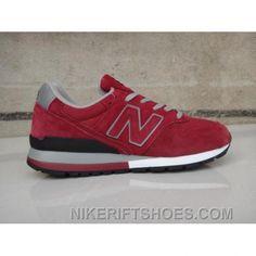 d74f684f3 New Balance 996 Mens Grey Black Red Shoes CdTr3