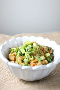 Shrimp quinoa fried rice - Blue Apron meal by keystothecucina.com @keystothecucina