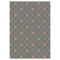 tapis 120x170 noir/rouge