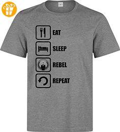 Anonymous Inspired Eat Sleep Rebel Repeat Men's T-Shirt XX-Large (*Partner-Link)