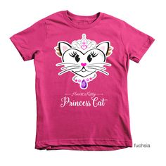 HeartKitty Princess Cat T-shirt (youth) via Hey Sugar! Designs. Click on the image to see more!