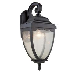 Filament Design Aeolia 1-Light Black Outdoor Wall Sconce-CLI-ACG892148 - The Home Depot