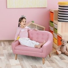 Toddler Sofa Chair, Kids Couch, Kid Chair, Big Girl Rooms, Boy Room, Child Room, Girl Bedroom Designs, Girls Bedroom, Toddler Rooms