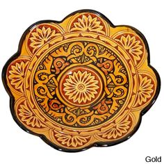 Ceramic 'Moroccan Sunset' Engraved Decorative Plate (Morocco) | Overstock.com Shopping - The Best Deals on Dinnerware