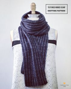 This is a beautiful textured ribbed scarf knitting pattern. $6 https://www.etsy.com/listing/276052164/knitting-pattern-textured-ribbed-scarf?utm_source=OpenGraph&utm_medium=PageTools&utm_campaign=Share