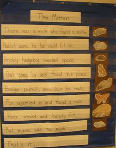Max the Ox & Felix Fox.  The Mitten.  Pocket chart poem.  Lots of other pocket chart poem examples also.