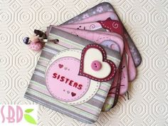 Scrapbooking Tutorial: Mini Album Sisters + qualche TRUCCO - YouTube