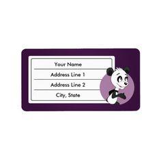 Cute cartoon pamda labels