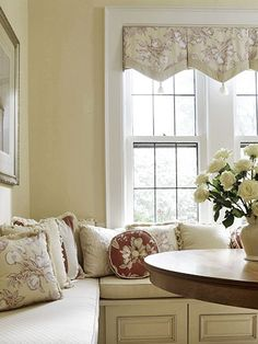 Love the Window Treatments & Bench!
