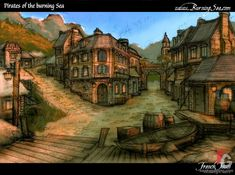 Résultats de recherche d'images pour « rise of the runelords burnt offerings Fantasy Places, Fantasy Map, Medieval Fantasy, Fantasy Artwork, Fantasy Village, Fantasy Castle, Fantasy Town, Space Wolf, Village Map