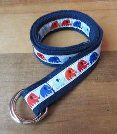 Elephant Parade D-Ring Belt for Kids