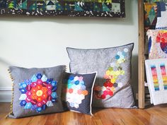 Create this colorful hexagon pillow with BERNINA Ambassador Giuseppe's tutorial. | The QuiltShow