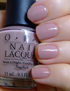 OPI tickle my fancy. Has a subtle lilac color -depending on coats of polish
