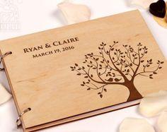 Build Memories Wedding Guest Book Custom Wood Wedding