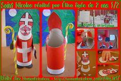 Risultati immagini per bricolage st nicolas Ronald Mcdonald, Christmas Crafts, Calendar, School, Winter, Google, Saints, Christmas Trees, Bricolage Noel