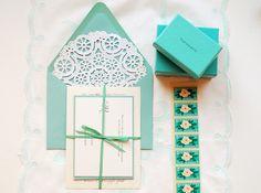 tiffany blue wedding invitations