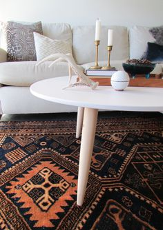 DIY: Danish Style coffee table sourced from thrift and online resources. I like it