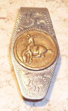 $28.99 free shipping! Alpaca Mexico Cowboy Bucking Bronco Horse Money Clip Silver- Nickle Plate #AlpacaMexico #cowboy #horse #silver #gold #moneyclip #classic #metal #rare #bucking #bronco #giftidea #rancher #designed #western #buy #ebay #shop #bargain #deal #vintage #quality