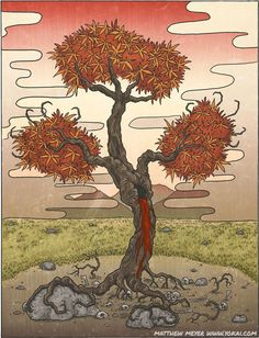 Jubokko- Japanese myth: a vampiric tree that usually grows in the middle of an old battle field to suck the blood from the ground with its roots. If a person passes by it, it could shape its branches into a tube to suck the person dry of blood.