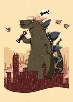 Godzilla by ~Ionahipri on deviantART