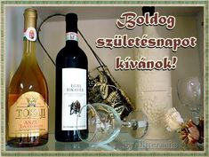 Name Day, Diy And Crafts, Congratulations, Birthdays, Happy Birthday, Wine, Bottle, Frame, Flowers