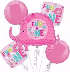 One Wild Girl Birthday Balloon Bouquet