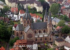 """Heppenheim- The """"Cathedral of the Bergstraße"""", St. Peter's Church"""
