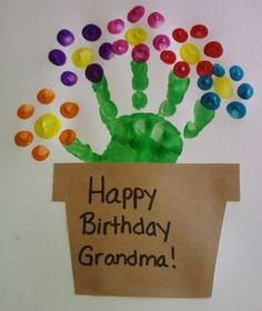 handabdruck bilder frische geschenkideen für oma