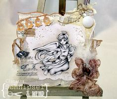 """Schnipsel & MEHR - Christmas Collection 2013 """"Angel with harpe"""""""