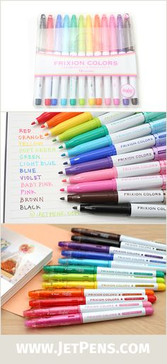 Pilot's FriXion Colors markers produce solid color, plus mistakes are okay because the ink is erasable! Take error-free notes, color-code your ever-changing calendar, or write cute letters to friends.