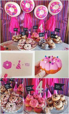 Amazing Donut Birthday Party! Love everything about this - the donut balloons, the donut craft, the invite - it's all so fun!