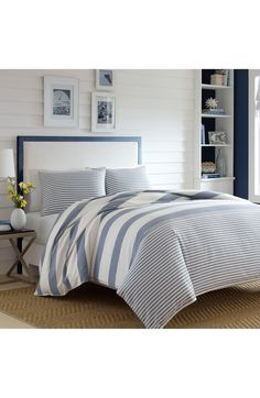 Nautica Fairwater Comforter & Sham Set available at Cream Duvet Covers, Duvet Cover Sets, Beach House Bedroom, Home Bedroom, Bedrooms, Bedroom Ideas, Master Bedroom, Bedroom Decor, Hamptons House
