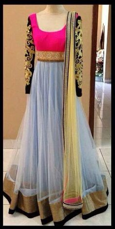So pretty, Beautiful, Elegant full Length Anarkali gown