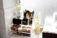 I wish my makeup was this organized! The Container Story   Into The Gloss