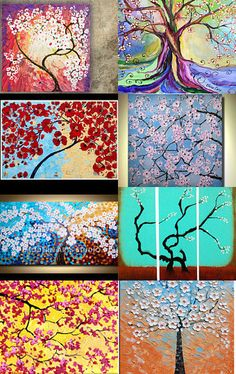 Cherry Blossoms by Claire. All Etsy finds...--Pinned with TreasuryPin.com
