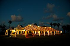 Gorgeous tented reception on Croquet Lawn at Half Moon  #HalfMoonResort #lighting+flowersbyonsiteflorist