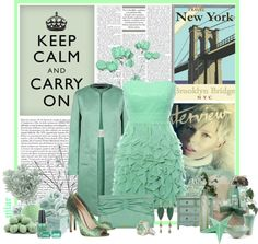 """""""Mint green"""" by pilar-elena ❤ liked on Polyvore"""