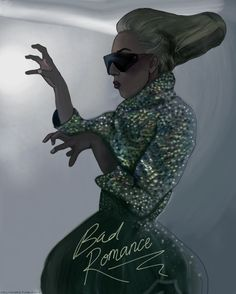 Lady Gaga fanart by the great Helen Green! Bad Romance