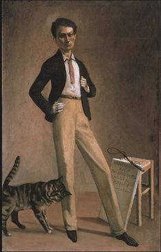 "Balthus self portrait, titled ""King of Cats"" at the Met"