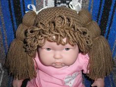CABBAGE PATCH STYLE Wig/Hats for Babies by DotsDreamCreations