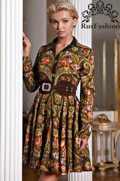 Пальто из Павлопосадского латка